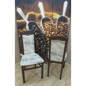2er-Set Esszimmerstühle massivholz nußbaum creme Stuhlset Stuhlgruppe