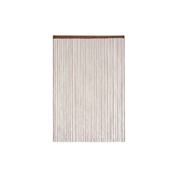 Fadenvorhang Fadenvorhang braun, relaxdays 145 cm x 245 cm
