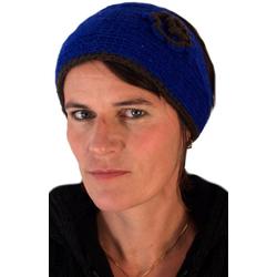 Guru-Shop Stirnband Stirnband aus Wolle - blau