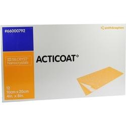 ACTICOAT 10x20 cm antimikrobielle Wundauflage 12 St.