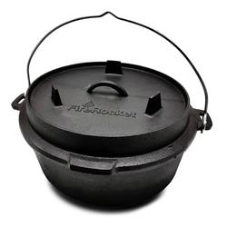 FireRocket Grilltopf Dutch Oven 6qt 5,5L Premium Gusseisen Feuertopf, Gusseisenprodukt