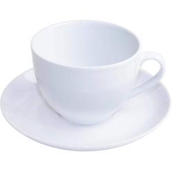 nurso Tasse Mona, (Set, 12 tlg., 6 Tassen-6 Untertassen), Tassen, Untertassen weiß Becher Tassen Geschirr, Porzellan Tischaccessoires Haushaltswaren