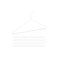 relaxdays Kleiderbügel 200 x Drahtbügel weiß