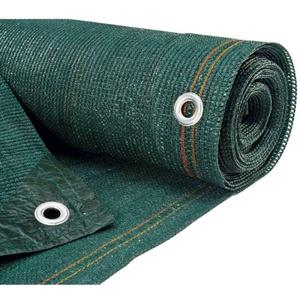 Sichtschutz für Garten – Sichtschutz blickdicht – Rolle Sichtschutz – WerkaPro 10590 – Sichtschutz grün – gewebt 300 g/m2 – Rolle 10 x 2 m – aus Polyethylen