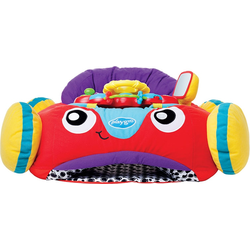 Playgro Baby Gym Plüschauto, mit Musik- und Lichteffekten rot Kinder Activity Center Trapeze Kleinkind