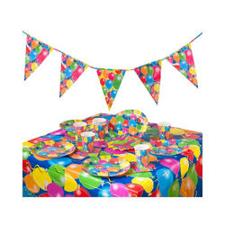 Folat Kindergeschirr-Set Partyset Ballon, 38-tlg.