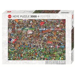 HEYE Puzzle HEYE 29205 Alex Bennett Football History 3000 Teile Puzzle, 3000 Puzzleteile braun