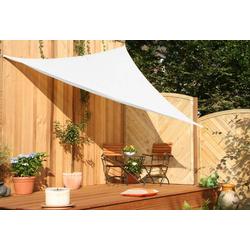 Dreiecksonnensegel HDPE creme weiß 500 cm Wind-u. Wasserdurchlässig