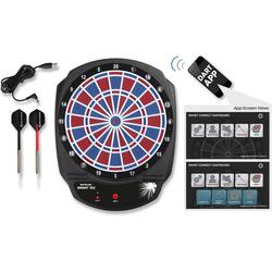 Sunflex Dartscheibe SMART TEC, (Packung, mit Dartpfeilen), Bluetooth gesteuerte, elektronische Dartscheibe