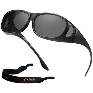 Polarisierte Überzieh-Sonnenbrille Überbrille Herren Damen für Brillenträger, Sonnenbrille polarisiert mit UV400 Schutz zum Autofahren Fahrrad Angeln
