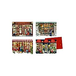 Mini-Adventskalender-Sortiment - Nostalgische Läden