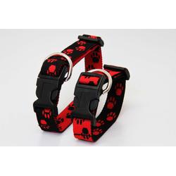 Hundehalsband | Pfötchen | 20 mm bis 50 cm Umfang