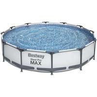 BESTWAY Steel Pro Max Frame Pool Set 366 x 76 cm inkl. Filterpumpe