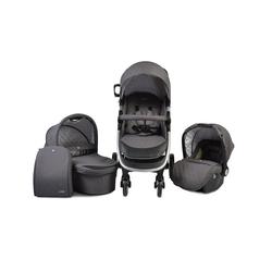 Cangaroo Kombi-Kinderwagen Kombikinderwagen Noble 3 in 1, Babyschale, Babywanne, Sportsitz klappbar grau