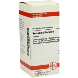 VERATRUM ALBUM D 6 Tabletten 80 St