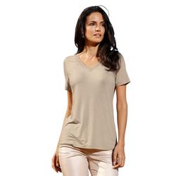 Amy Vermont V-Shirt mit metallisiertem Garn 46