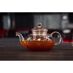 YEM HOME Teekanne ROUNDY 1000ml Teekanne mit Glas Sieb und Glas