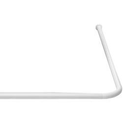 Winkelstange Eco, Ridder, Ø 20 mm, kürzbar, für Duschvorhänge weiß