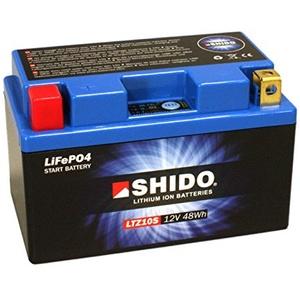 Batterie Shido Lithium LTZ10S / YTZ10S, 12V/9,1AH (Maße: 150x87x93) für KTM Enduro 690 R Baujahr 2010