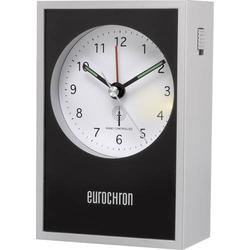 Eurochron EFW 7000 Funk Wecker Silber, Schwarz