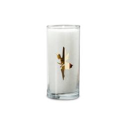 yogabox Duftkerze Weiß mit goldenen Etikett ELFE