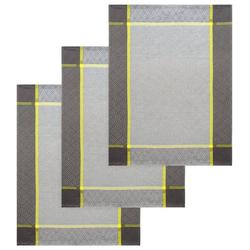 Lashuma Handtuch Set (Set, 3-tlg), Geschirrtücher Halbleinen, Küchentücher 50x70 cm grau