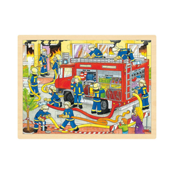 goki Puzzle Holzpuzzle 48 Teile Feuerwehr, Puzzleteile