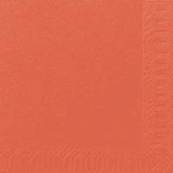 Duni Zelltuch Servietten 33x33 3lg 1/4 mandarin - 10x50 Stück