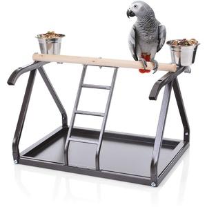 Montana Cages | Tischfreisitz für Papageien in der Wohntrendfarbe Choco
