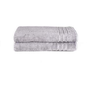 Komfortec Saunatuch Saunatücher in den Maßen 70x200 cm oder 80x200 cm silberfarben 80 cm x 200 cm