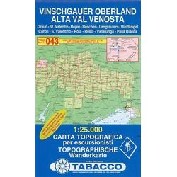 Tabacco Wandern 1 : 25 000 Alta val Venosta-Vinschgauer Oberland