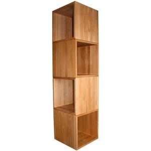 4er-Set Würfel, Kubus ca. 45x45x45cm groß, aus extra dickem Buche-Massivholz, Cube, Beistelltisch, Hocker, echtes Holz
