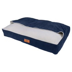 D&D Hundebett/Schlafsack Snuggle Bed Cody Denim, Maße: 100 x 70 x 15 cm