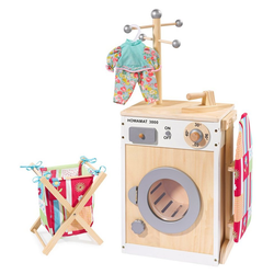 howa Kinder-Waschmaschine, Wäschecenter aus Holz