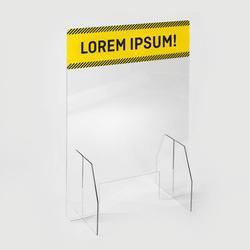 1 Spuckschutz, Acrylglaswand, Hygienewand 100x75 cm