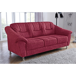 sit&more 3-Sitzer, mit Federkern rot