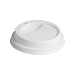PAPSTAR Einwegbecher To Go, Polystyrol, Deckel weiß 2 cm