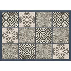 Fußmatte Fußmatte Fliesen Kacheln Retro beige 50x70 cm, matches21 HOME & HOBBY, rechteckig, Höhe 5 mm 70 cm x 50 cm x 5 mm