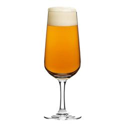 Ritzenhoff Gläser-Set Aspergo Design Bierglas 6er Set 300 ml, Kristallglas weiß