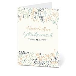 LUMA Geburtstagskarte Blumen DIN B6