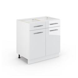 Vicco Unterschrank Schub80 cm Weiß Küchenzeile Fame