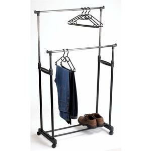 Kleiderständer höhenverstellbar 110-160 cm rollbar 2 Kleiderstangen 110x4 x17