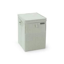 Brabantia Stapelbare Wäschebox, 35 Liter, Wäschesammler ideal zum Sortieren Ihrer Wäsche, Farbe: Green