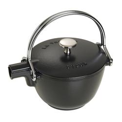 STAUB France Teekessel Wasserkessel 16,5 cm aus Gusseisen Schwarz