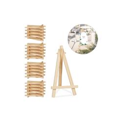 relaxdays Mini Staffelei 40 x Staffelei klein aus Holz