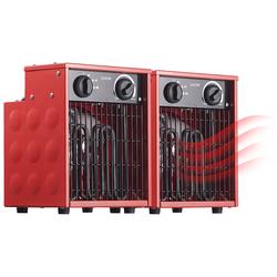 2er-Set Profi-Industrie-Elektro-Heizlüfter, 2.000 Watt, 2 Heizstufen