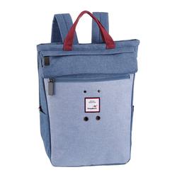 KangaROOS Cityrucksack, kann auch als Tasche getragen werden blau