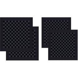 DDDDD Geschirrtuch Barbeque, (Set, 4-tlg), Combiset: 2 Küchentücher & 2 Geschirrtücher schwarz