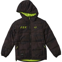 Parka FOX - Youth Wasco Puffy Jacket Black Camor (247) Größe: YXL