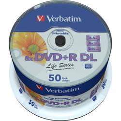 Verbatim 97693 DVD+R DL Rohling 8.5GB 50 St. Spindel Bedruckbar
